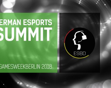 German eSport Summit 2018, Gaming, Gamesweek, Berlin, zocken, spielen, esport